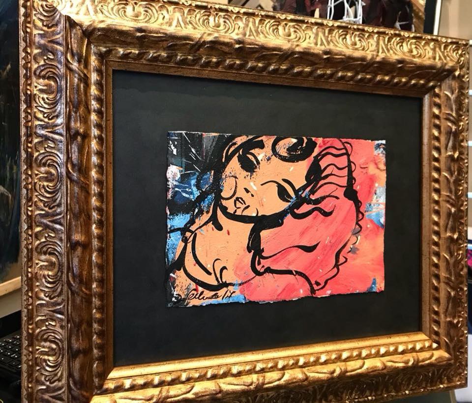 Sueño en oro. Obra de David Callau @CallauArt #arte #cuadros #enmarcaciones #Zaragoza #decoracion #MarisaCervantes
