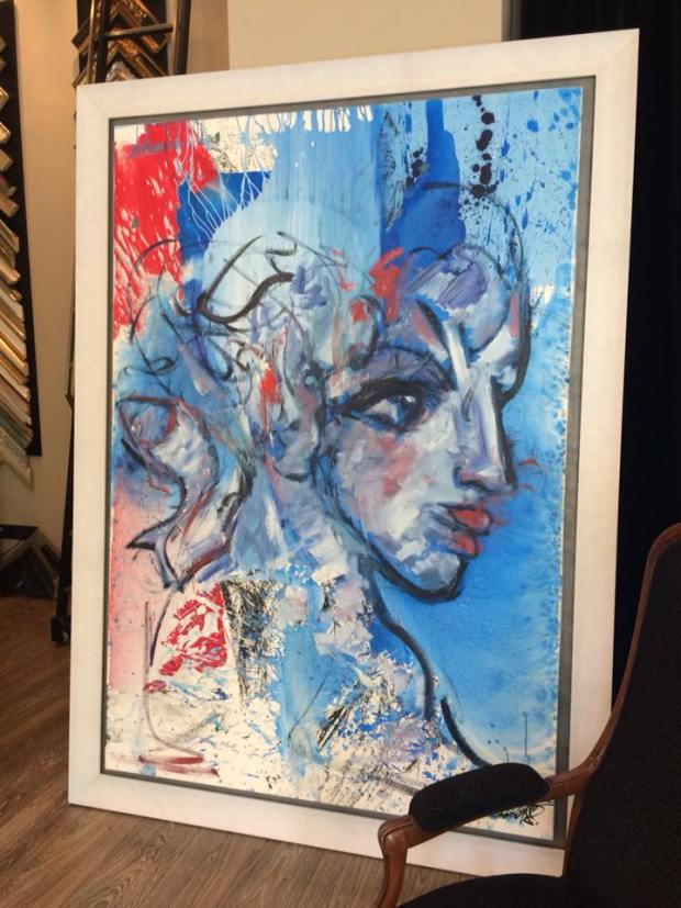 La esfinge blanca - obra de David Callau @CallauArt  #arte #zaragoza #cuadros #decoracion #marcos #enmarcaciones #MarisaCervantes