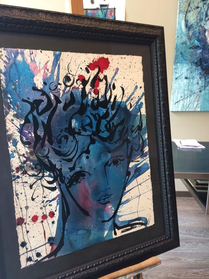 Medusa - espectacular obra de David Callau @CallauArt #arte #zaragoza #cuadros #decoracion #marcos #enmarcaciones #MarisaCervantes