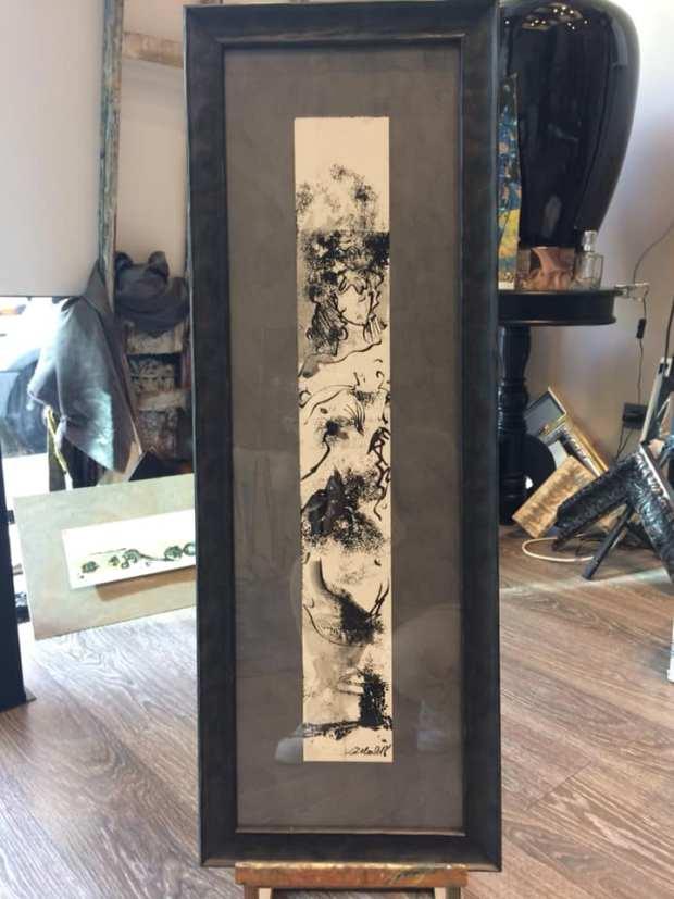 Una obra realizada en tinta china