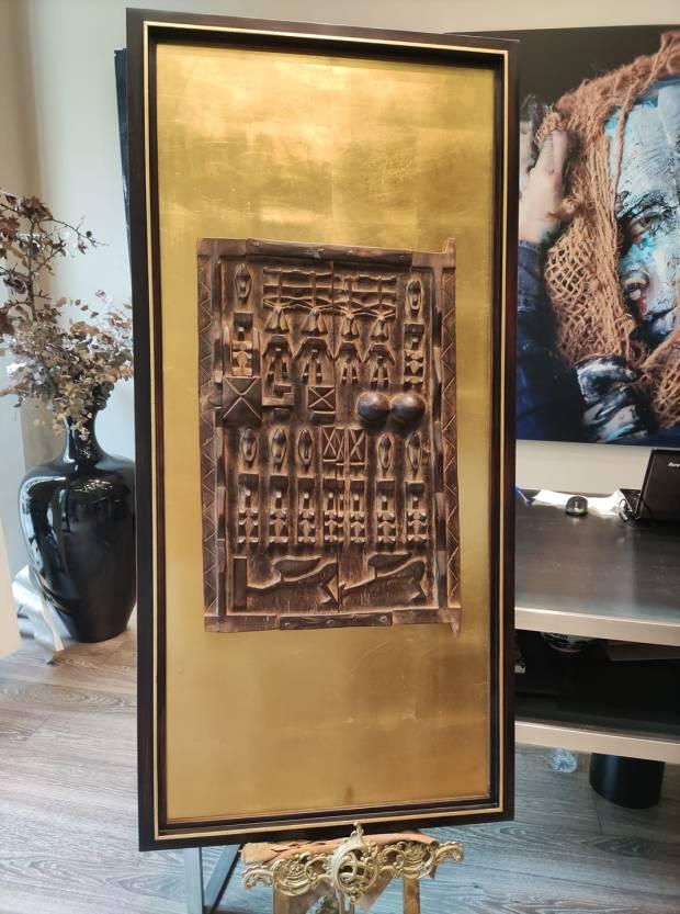 Una pieza de artesanía africana #africa #arte #cuadros #decoracion #Zaragoza #MarisaCervantes #enmarcaciones