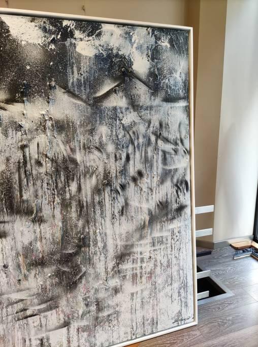 Noches Blancas - obra enmarcada de David Callau #arte #cuadros #decoracion #enmarcaciones #Zaragoza @CallauArt