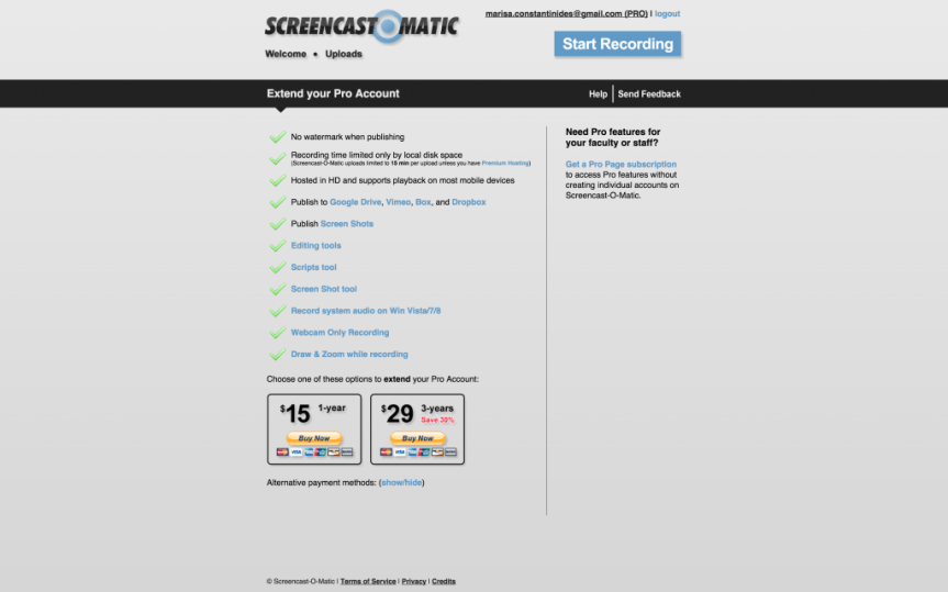Go Pro    Screencast O Matic   Free online screen recorder for instant screen capture video sharing.