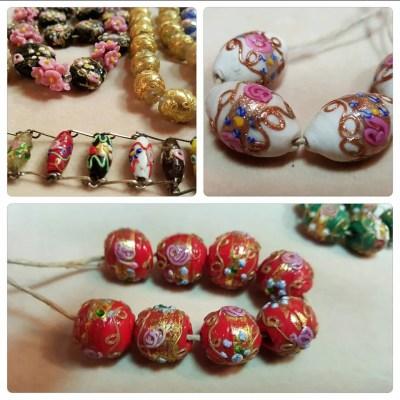 Venetian beads - fiorate