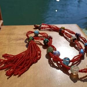 Collana in Vetro di Murano Caramee Hippie Marisa Convento