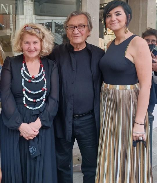 Safet Zec a Bottega Cini con Marisa Convento e Jelena Vesic