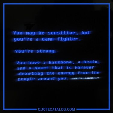 you're a damn fighter