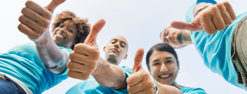 happy people thumbs up, build your business fast