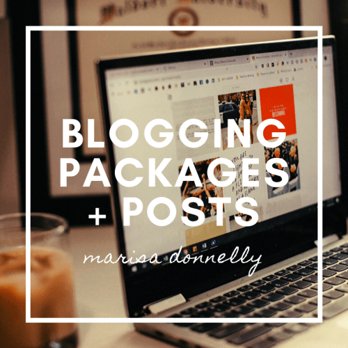 blogging packages & posts - marisa donnelly