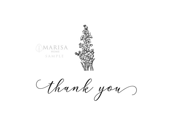floral thank you card sample