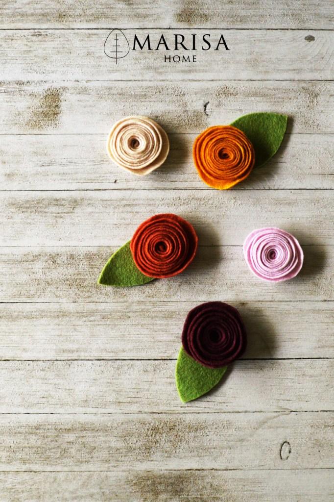 ranunculus felt flower DIY