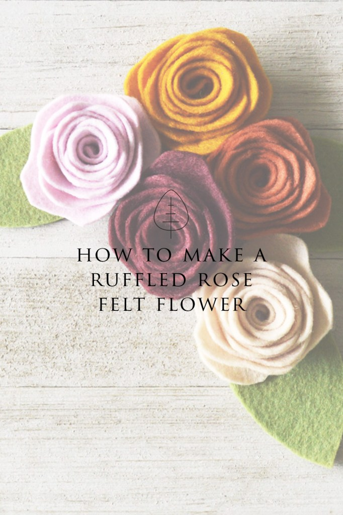 how to cut felt flowers by hand