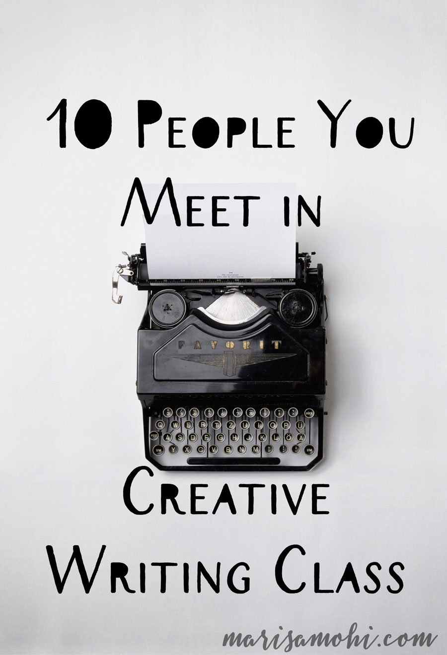 Creative Writing Class