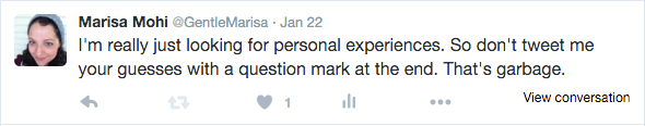 Marisa Mohi tweets