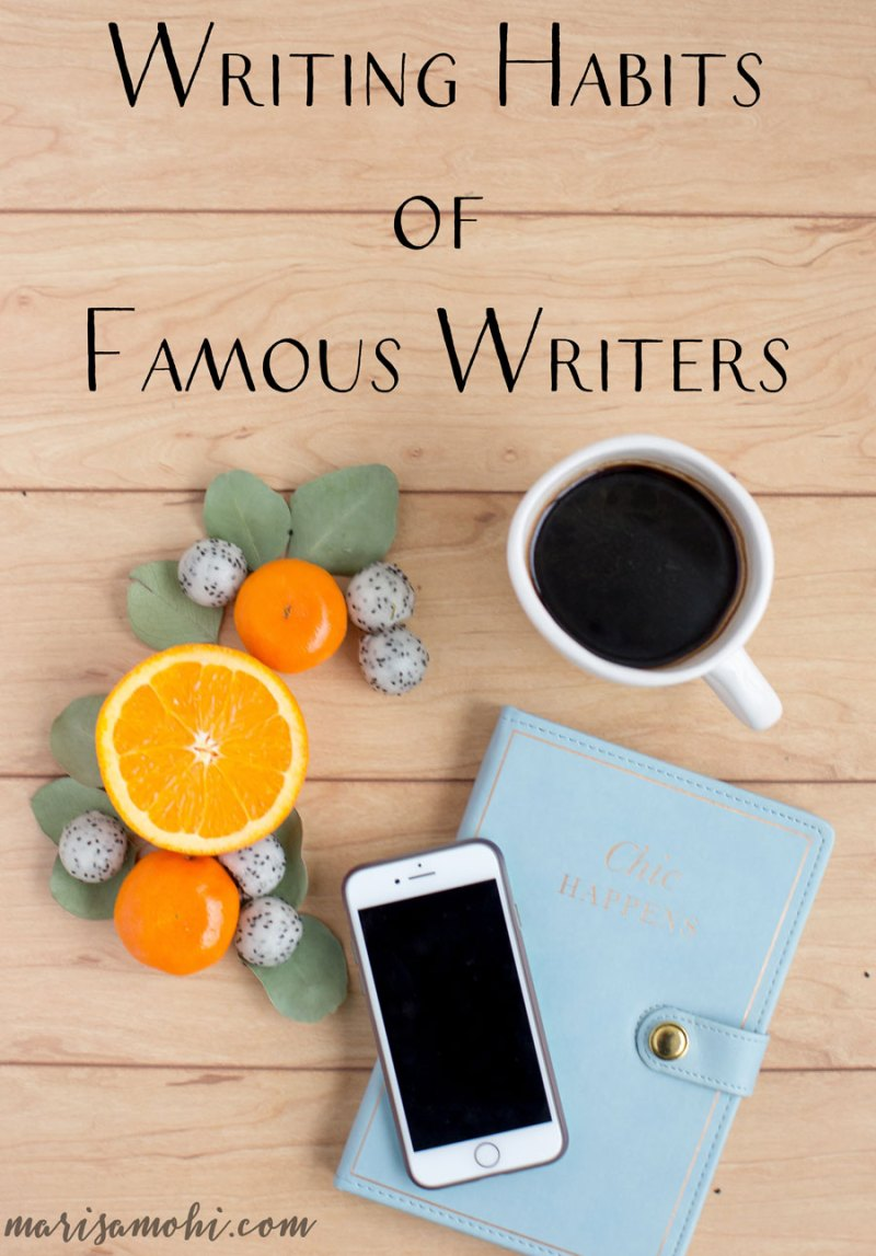 Writing Habits of Famous Writers | I love to study the writing habits of famous writers to learn how they approach their work.