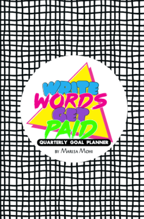 Cover of the Write Words Get Paid Planner