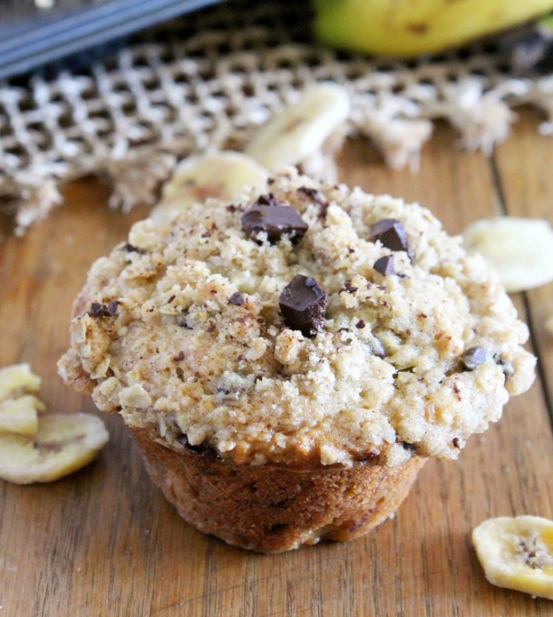 chocolate oatmeal banana muffins