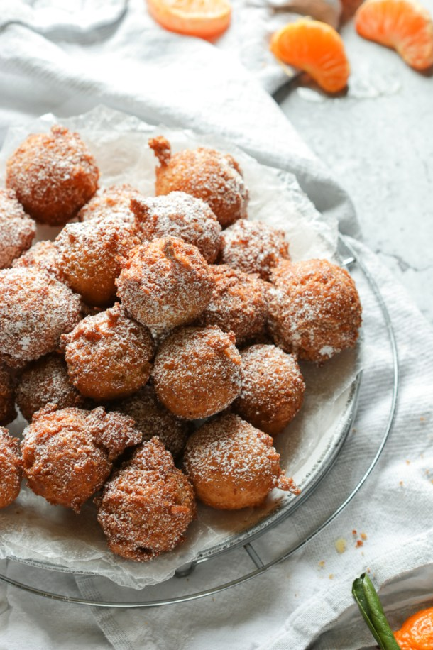 Plateful of orange fritters