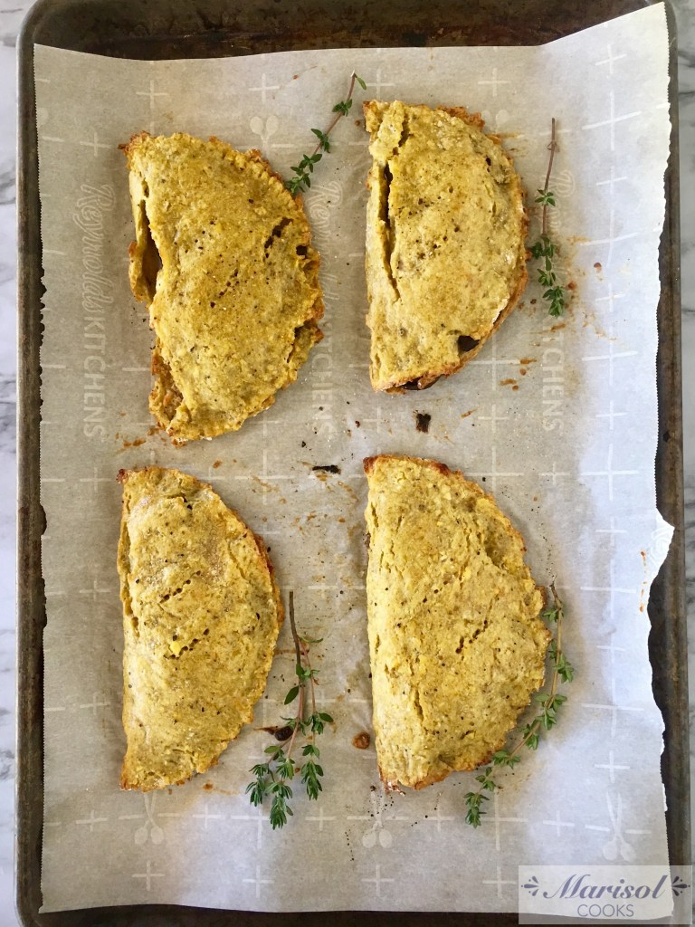 Plantain Empanadas with Mushrooms and Goat Cheese