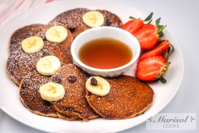 Oatmeal and Banana pancakes with Chocolate Chips