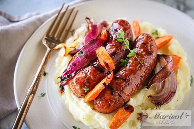 Roasted Sausage and Mashed Potatoes