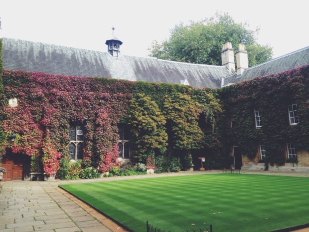 Lincoln College entrance quad: we have the reputation of having the prettiest lawn in all Oxford. I mean, just look at this green...