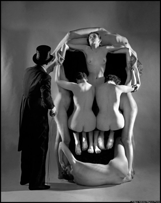 "USA. New York City. 1951. Salvador DALI. ""In Voluptate Mors."""
