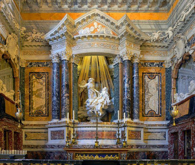 Cornaro_chapel_in_Santa_Maria_della_Vittoria_in_Rome_HDR