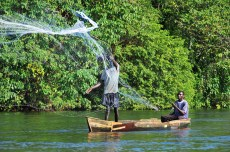 Fishing on the River Nile, Ninja, Uganda - December 2012