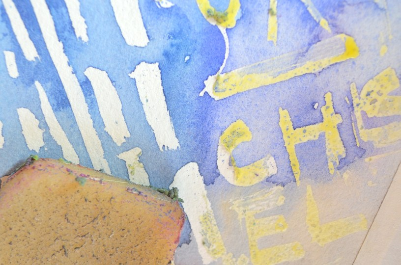 Step 8: Start erasing the masking fluid with your rubber cement eraser. It comes off pretty easily, but you may need to go over some of the areas a few times to ensure it's all cleaned up.