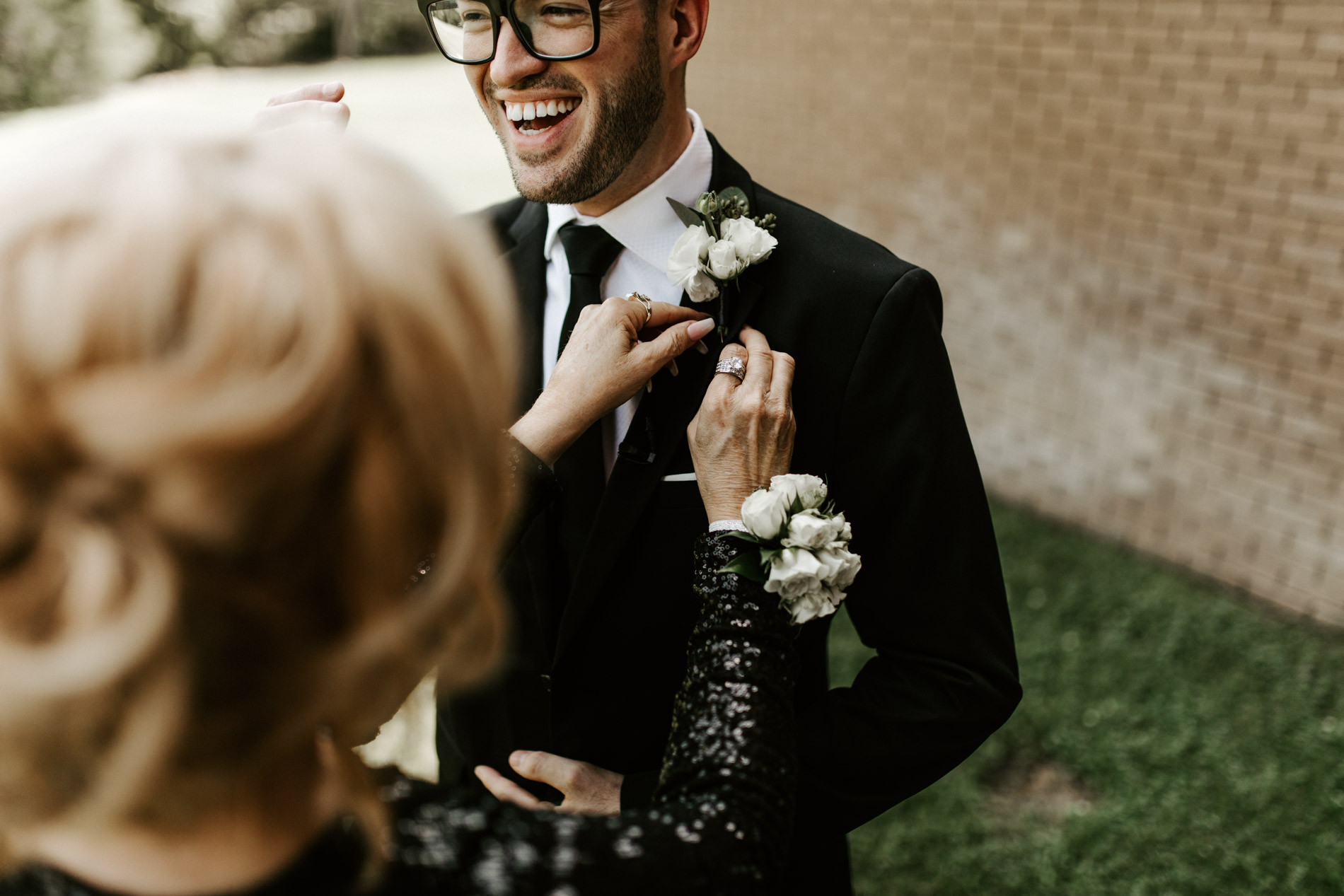 boutonniere mother groom getting ready photography
