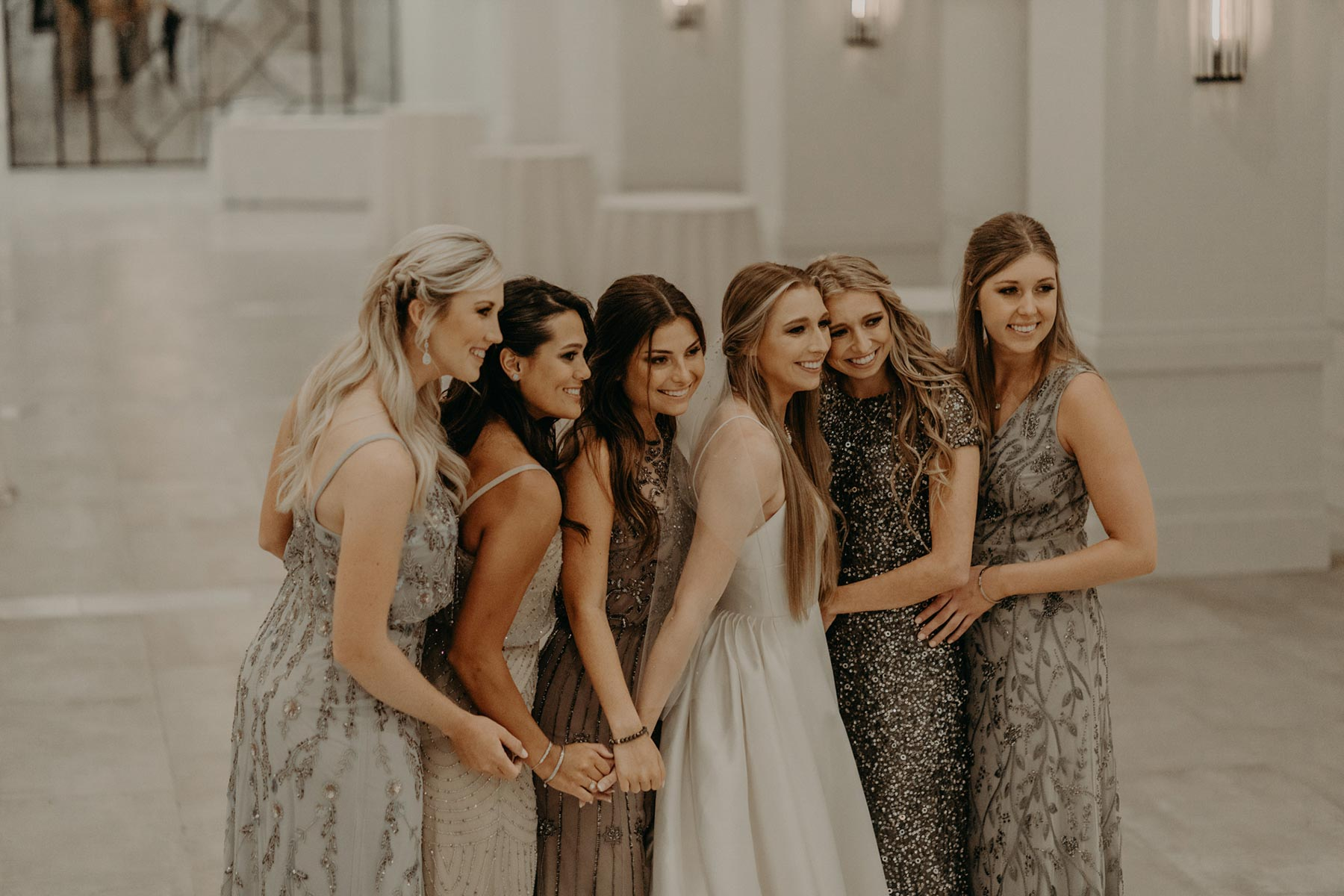 portrait of bridesmaids in dallas texas