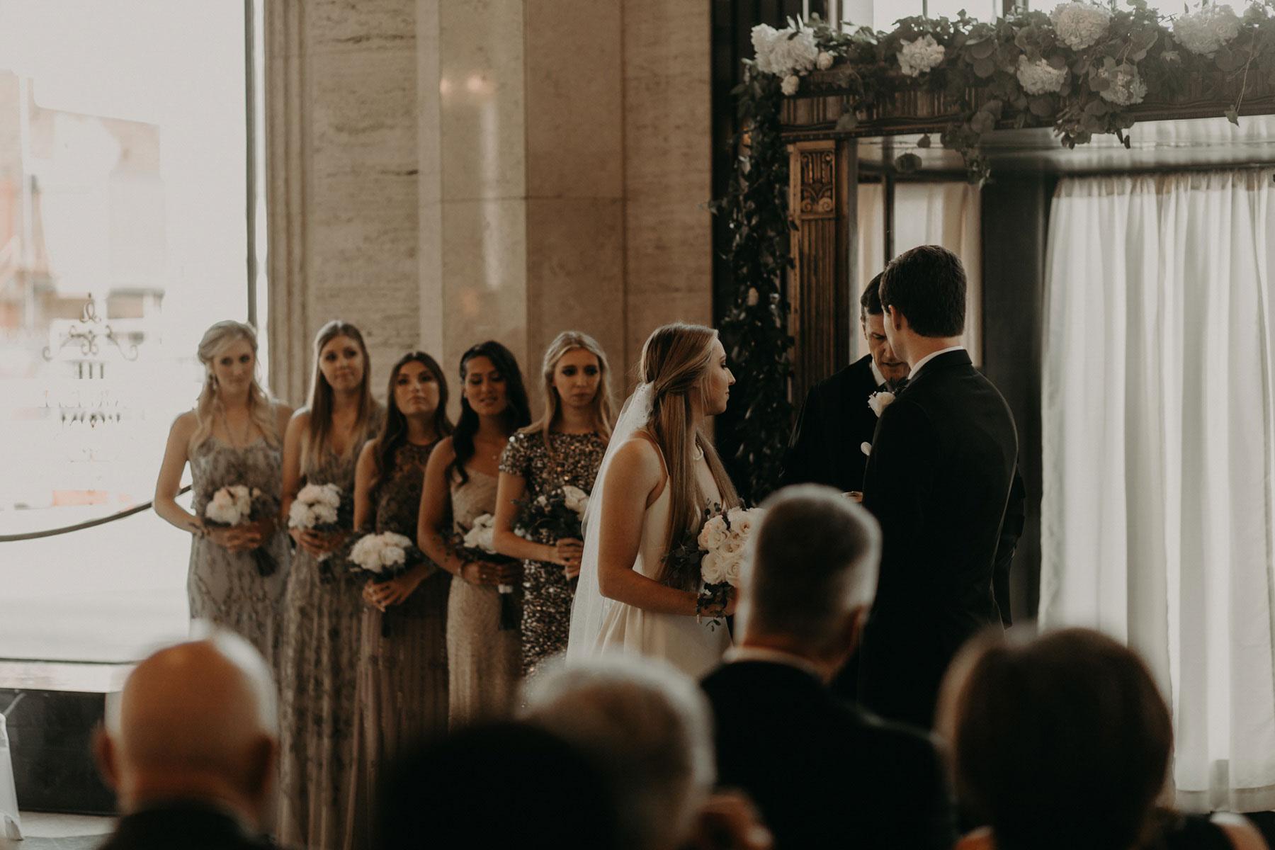 wedding ceremony at Carlisle room in dallas