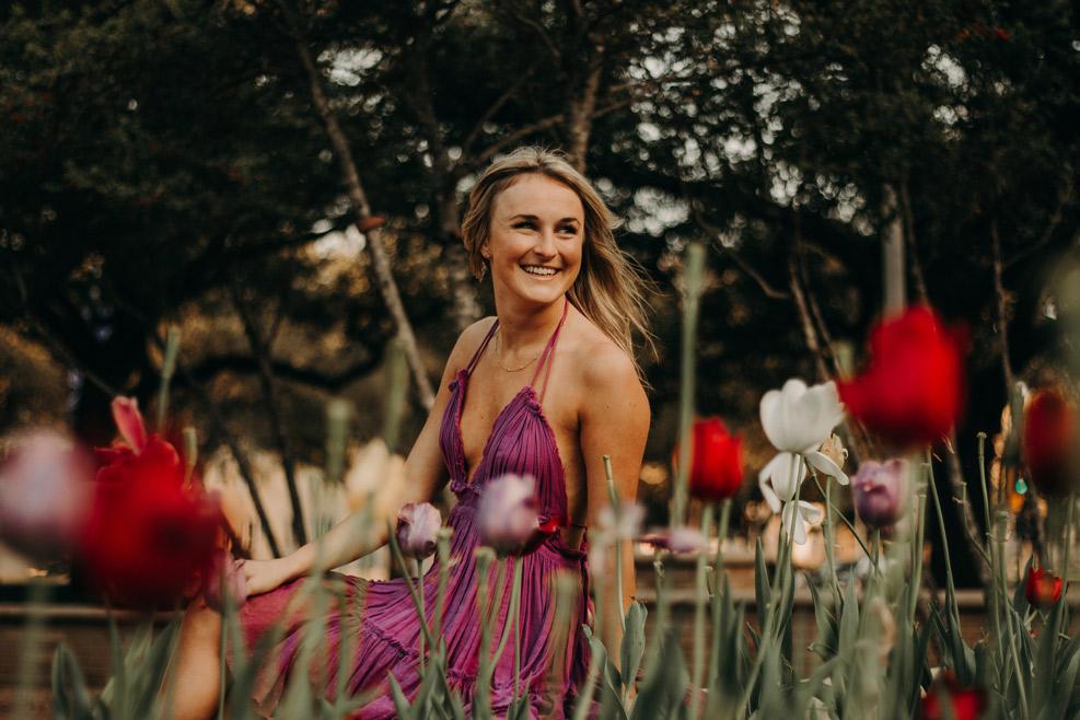 tcu tulips senior photographer Fort Worth