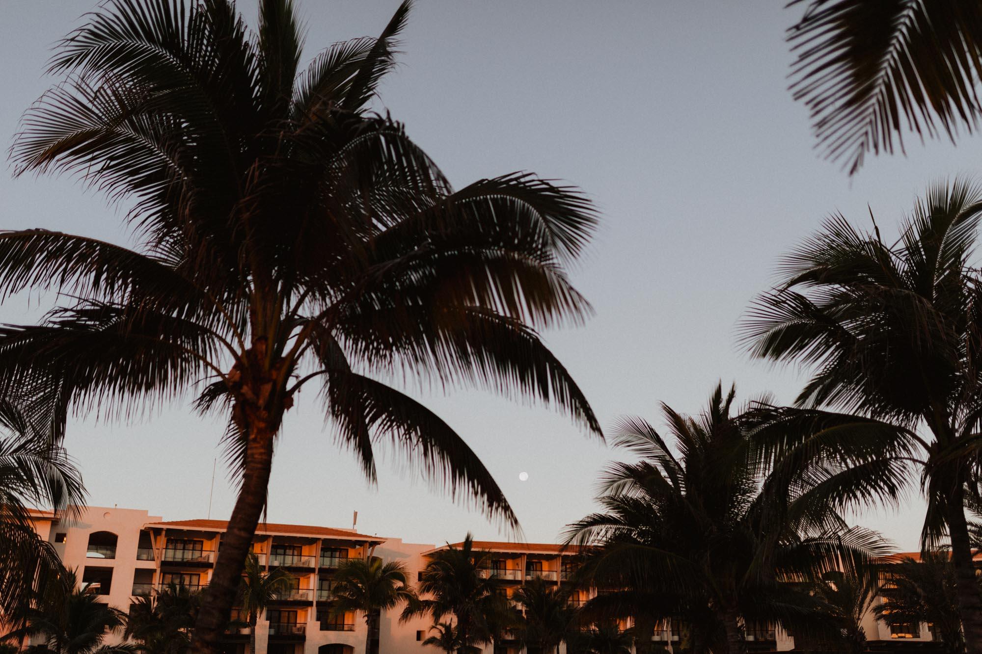 resort in early morning lighting
