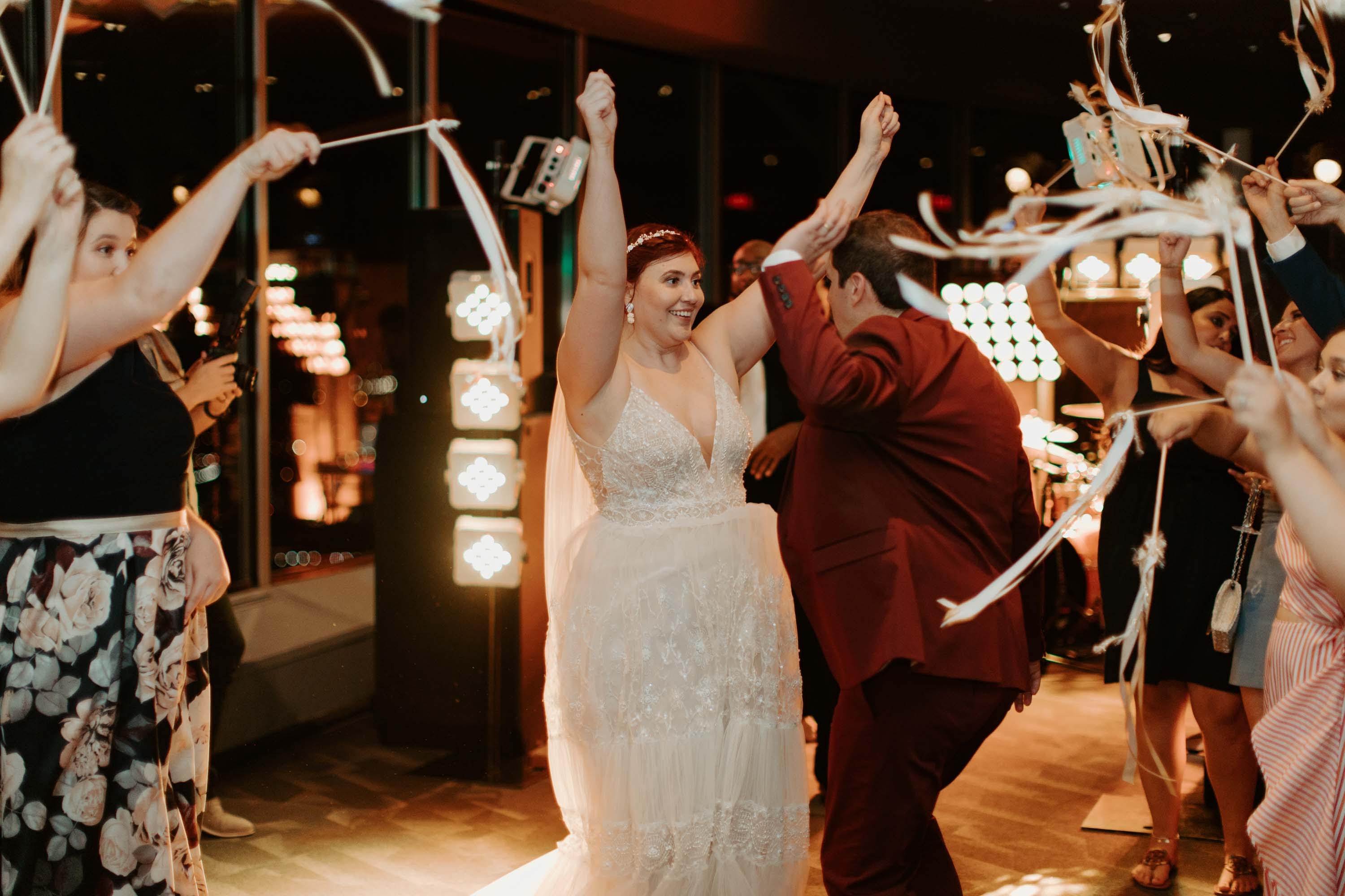 Bride and groom dancing at their wedding reception in Dallas Texas