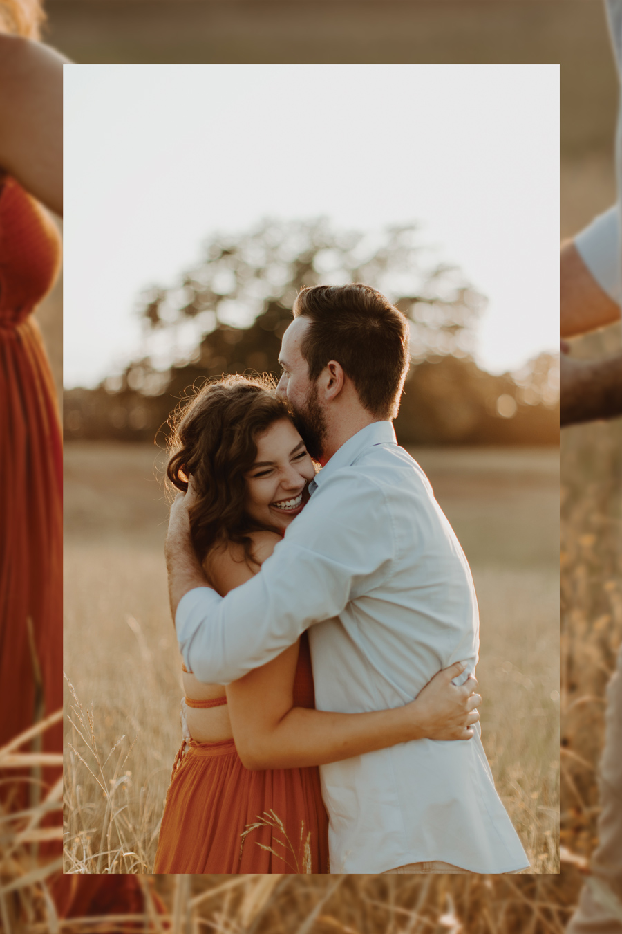 couple hugging with overlay pinterest