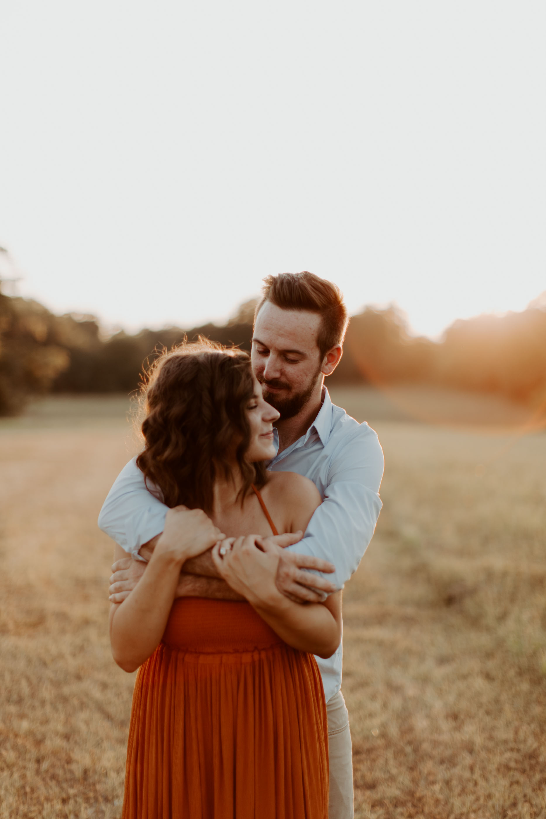 ETX engagement session golden hour lighting