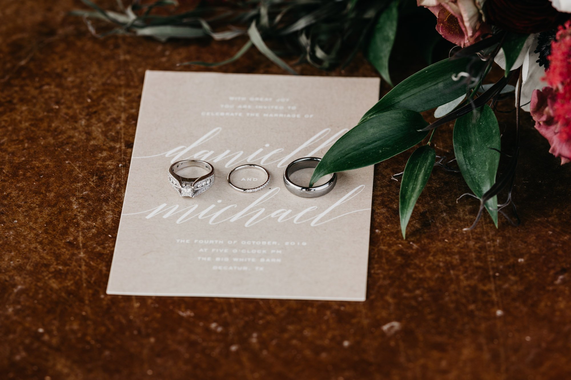 Detail photos of beautiful North Texas Wedding