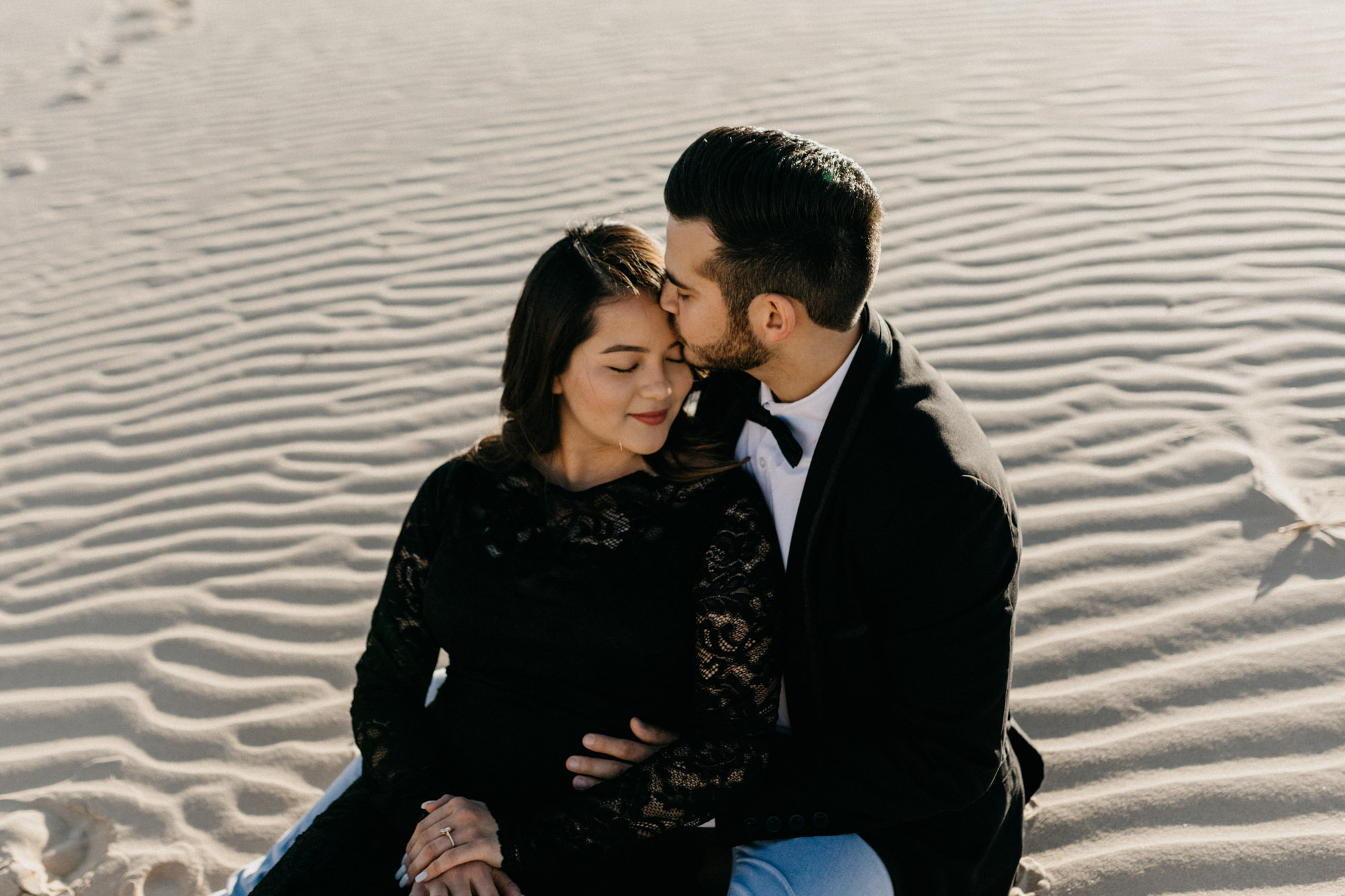 North Texas adventure photographer captures emotional engagement session at Sandhills state park