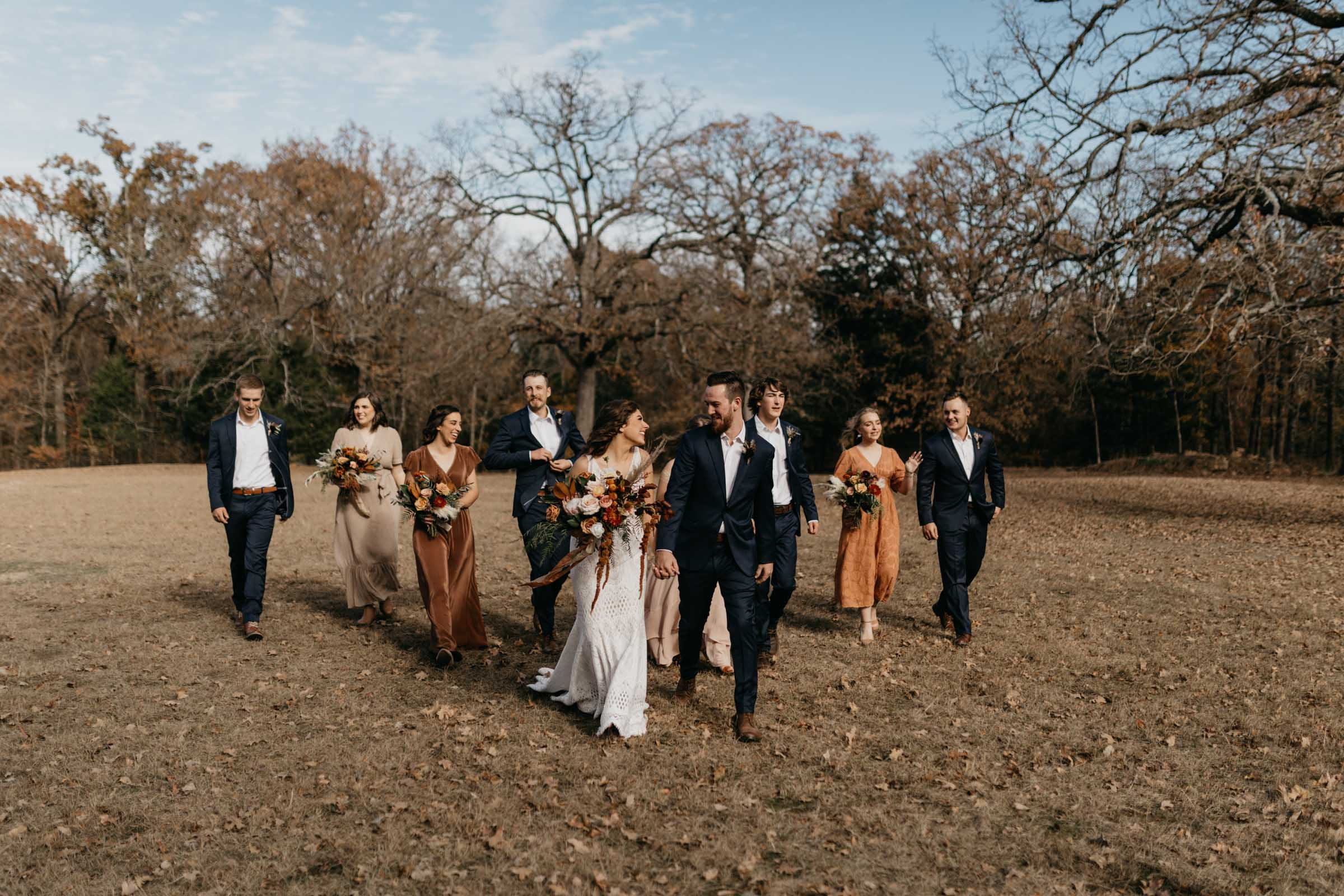 Creative way to photograph a bridal party without looking too posed
