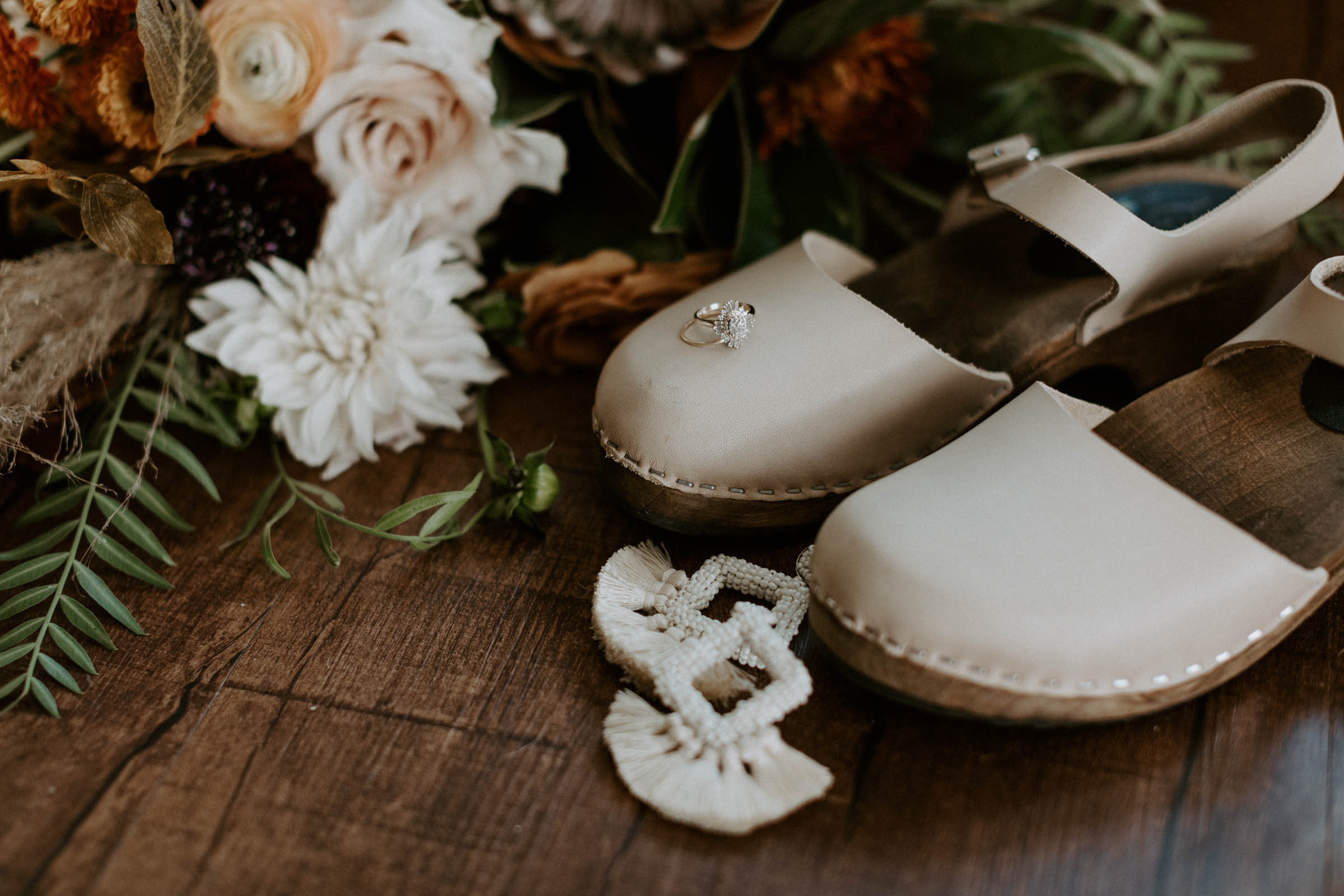 Photograph of wedding day details for boho bride in Fort Worth