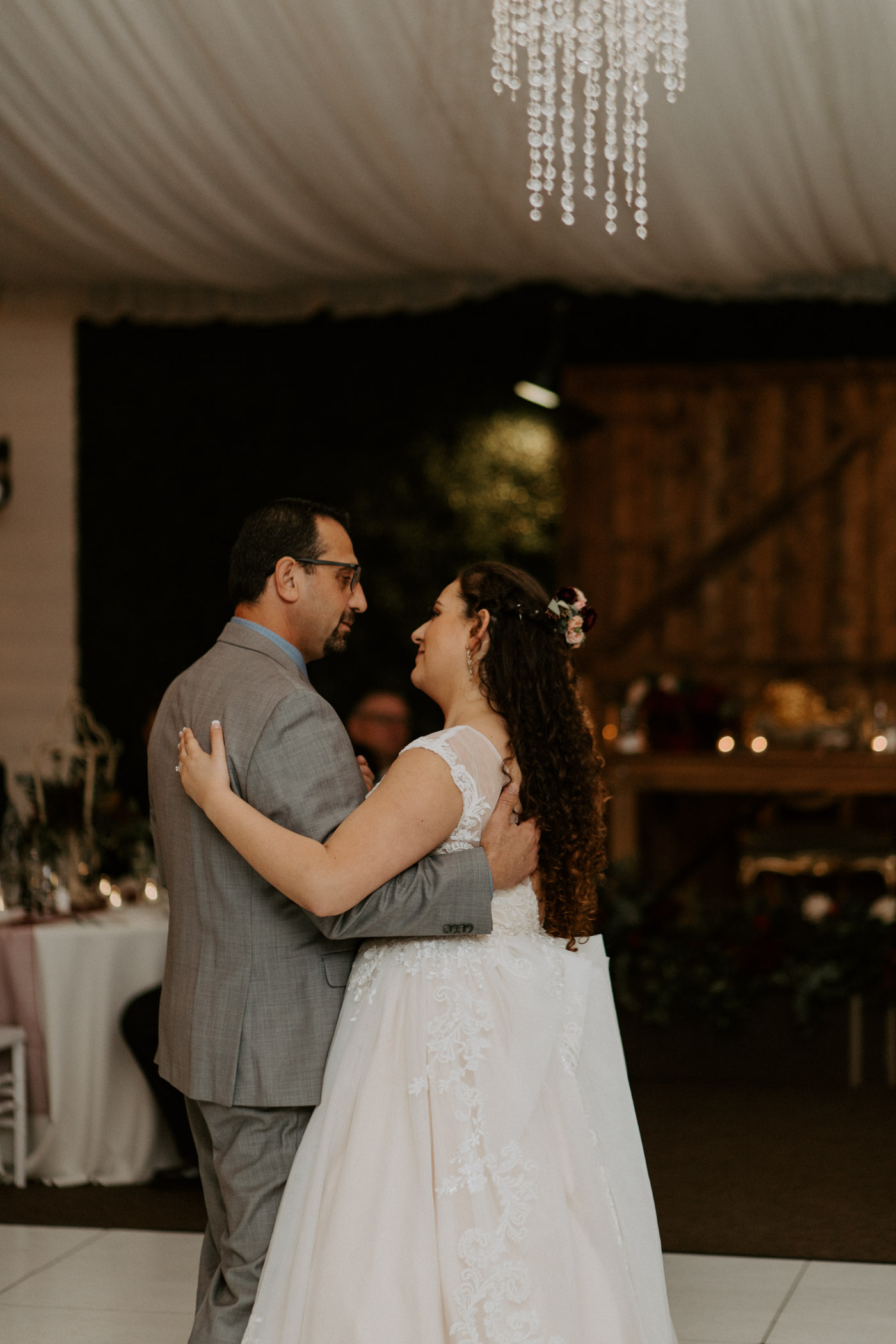 Father daughter dance at being reception