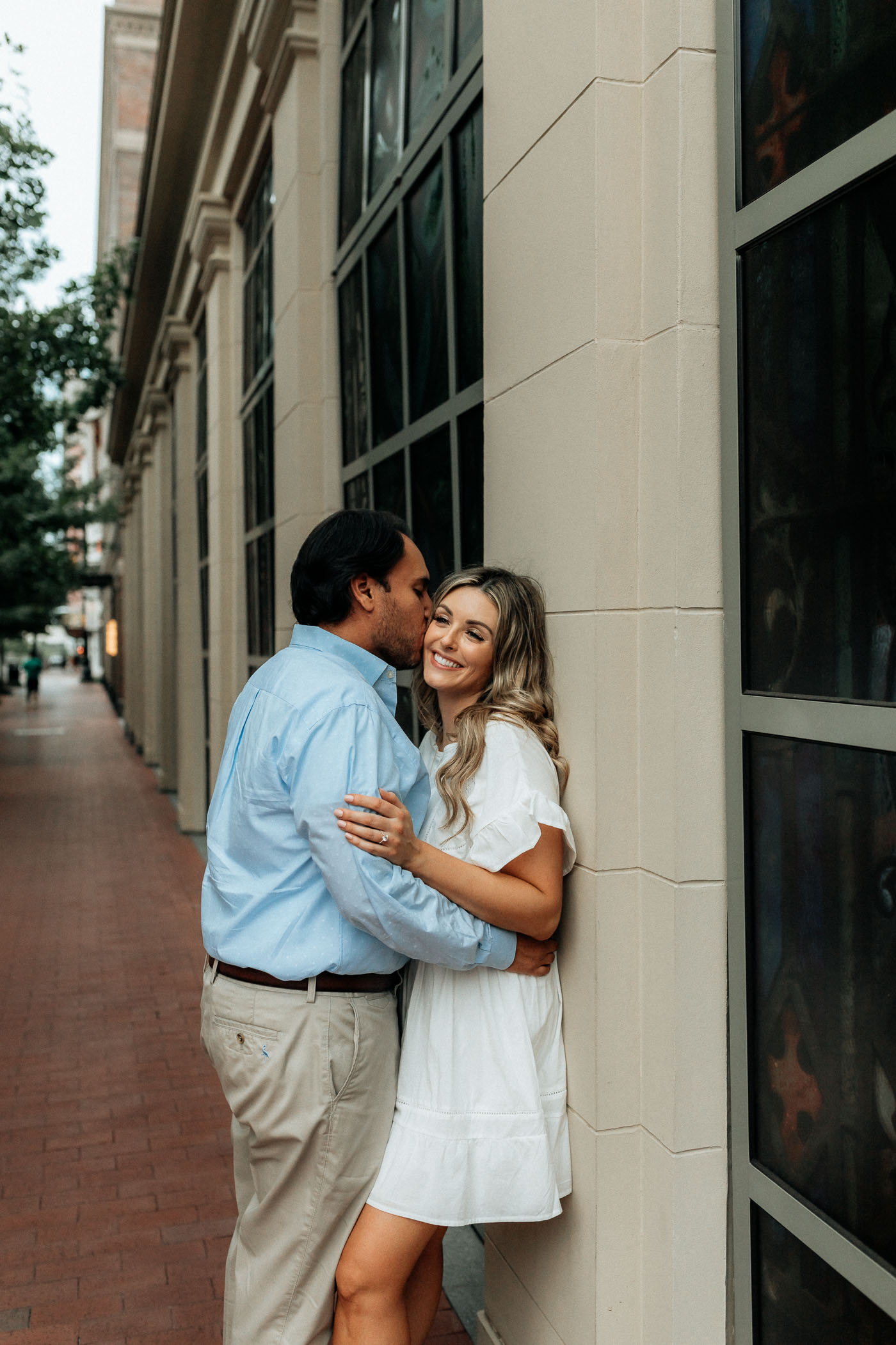 Downtown fort worth Sundance square engagement session