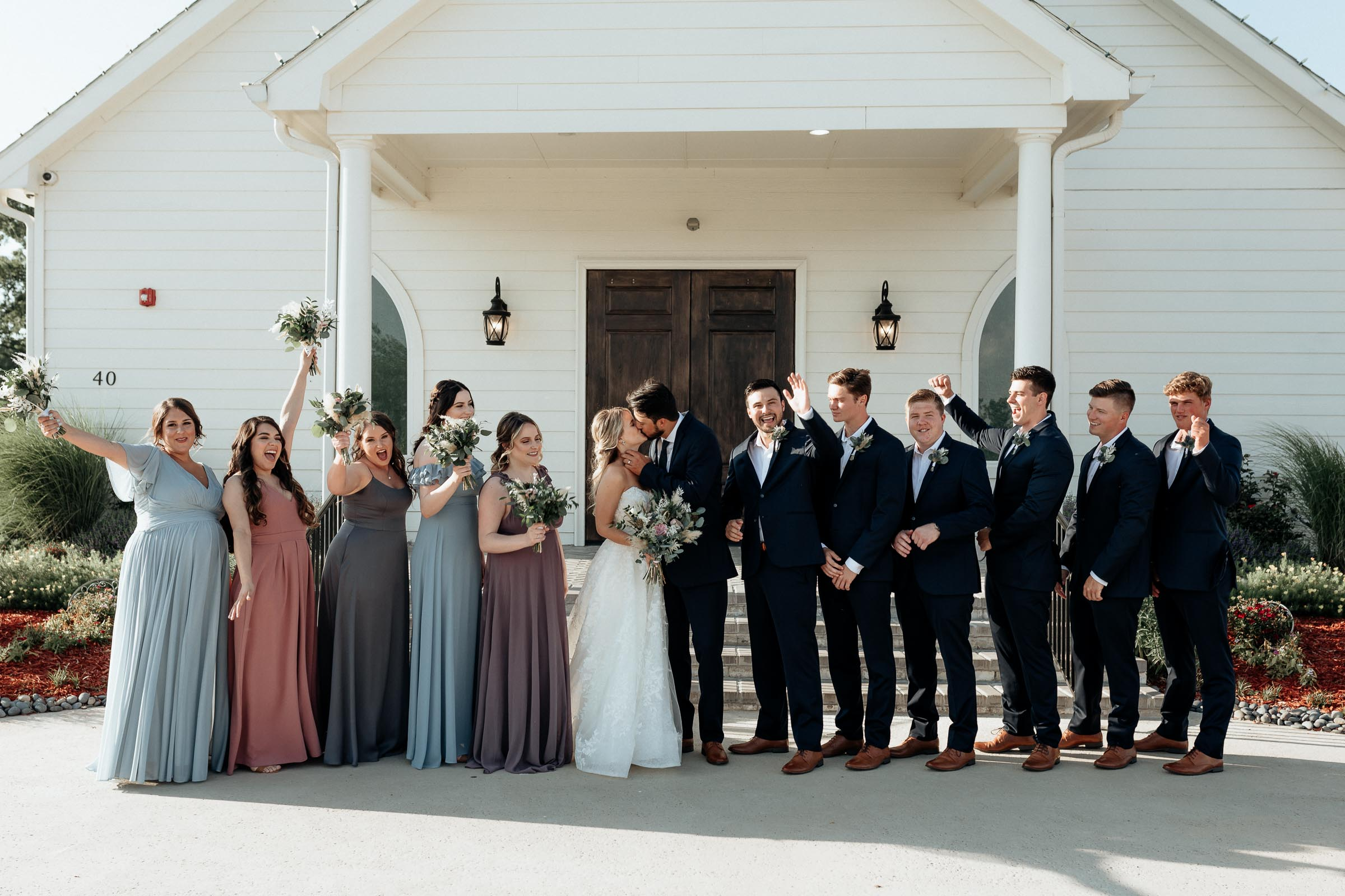 southern wedding bridal party portrait