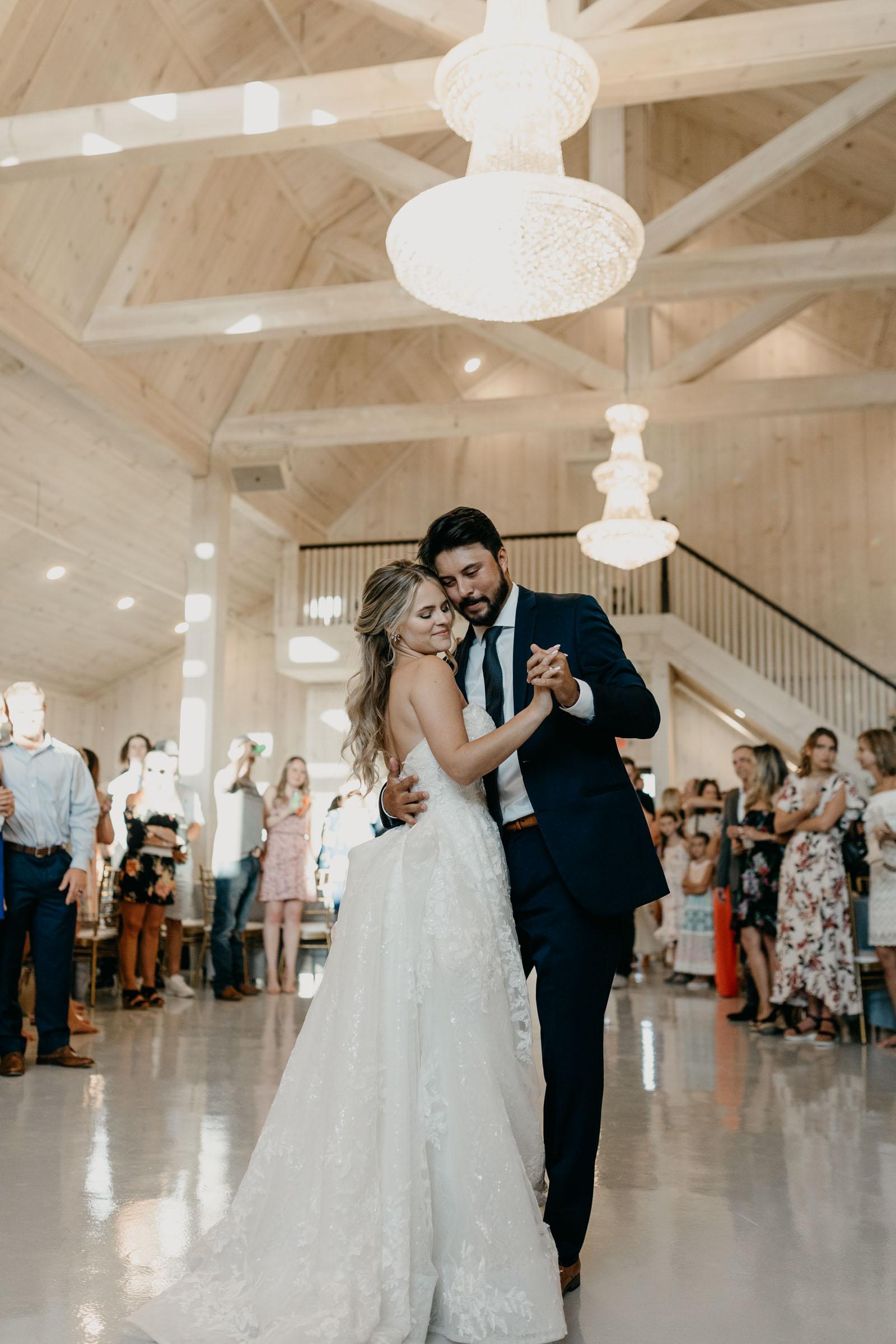 first dance wedding photo in DFW