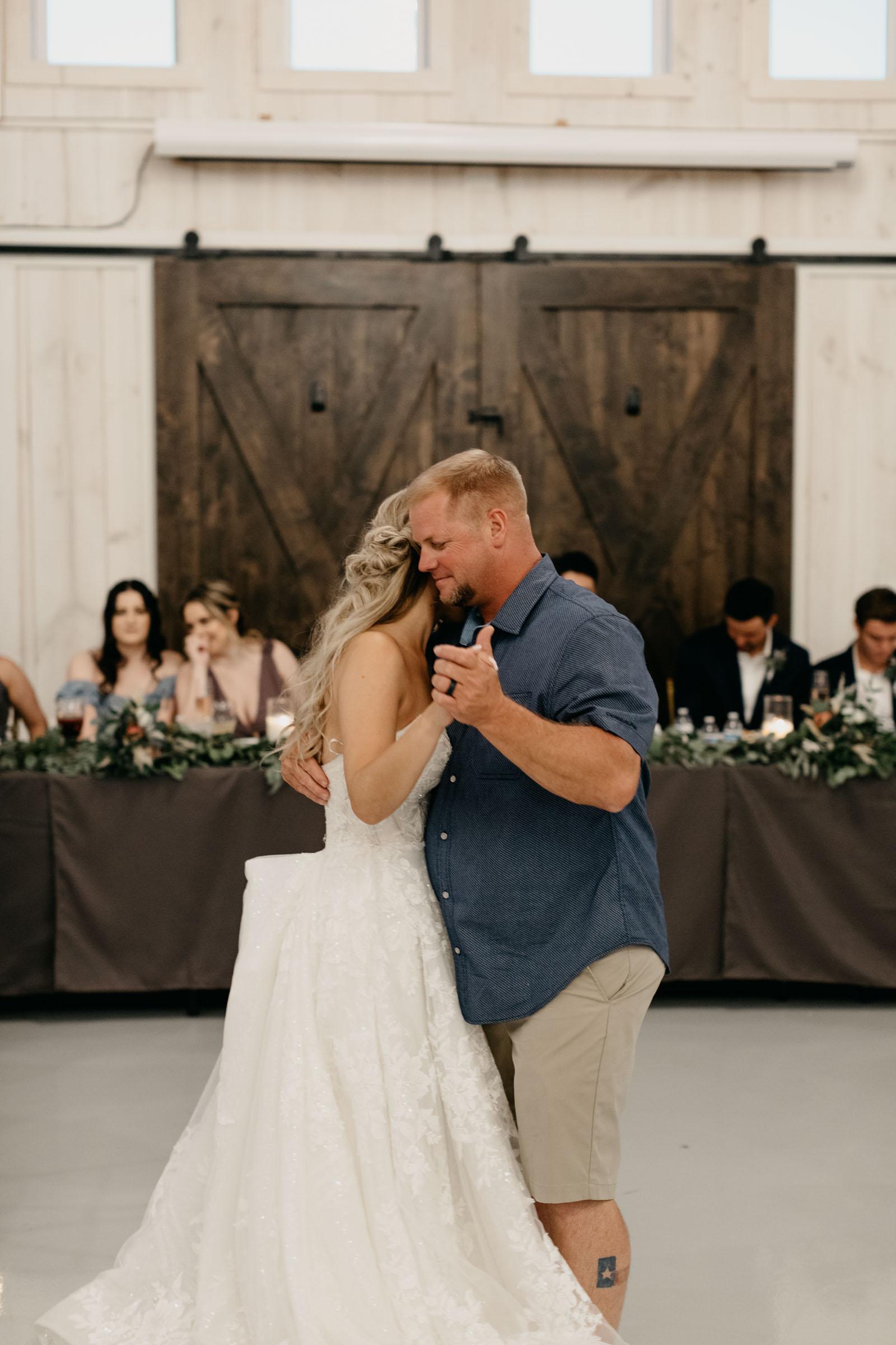 wedding reception space at one Preston events in Gunter texas