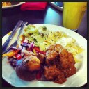 """Noodles, beef goulash, broccoli, cabbage and babkas and today's #Ukraine #ValleyCafe"" (@ejane27)"