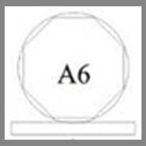 แบบโล่ห์อะคริลิก A6