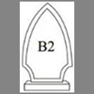 แบบโล่ห์อะคริลิก B2